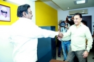 Kamal Haasan Meets Vijayakanth Photos