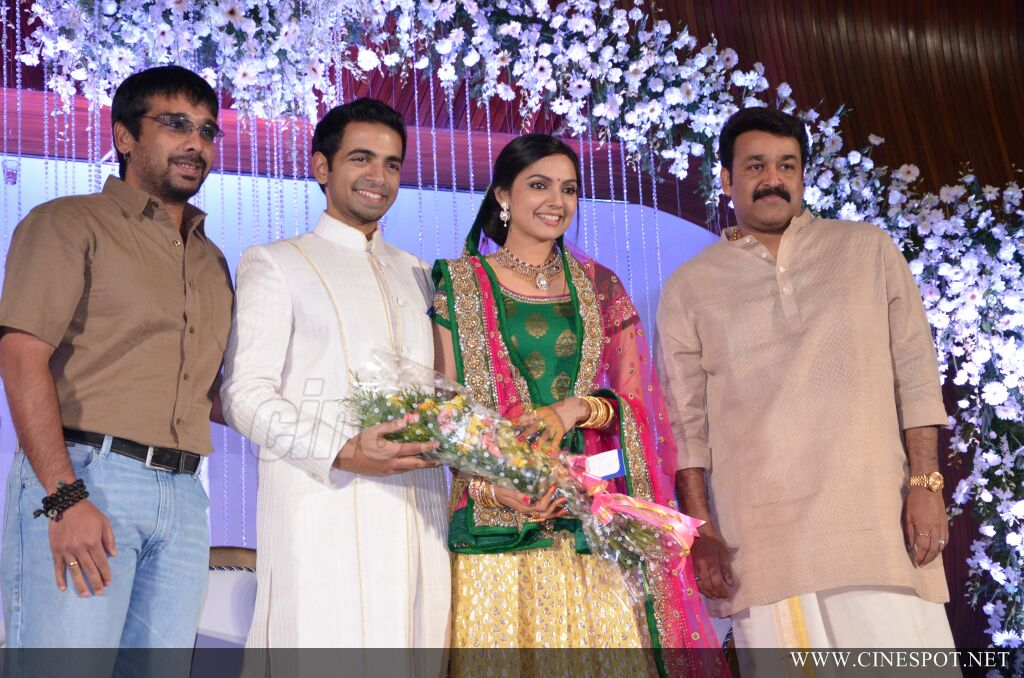 Mohanlal At Samvritha Reception
