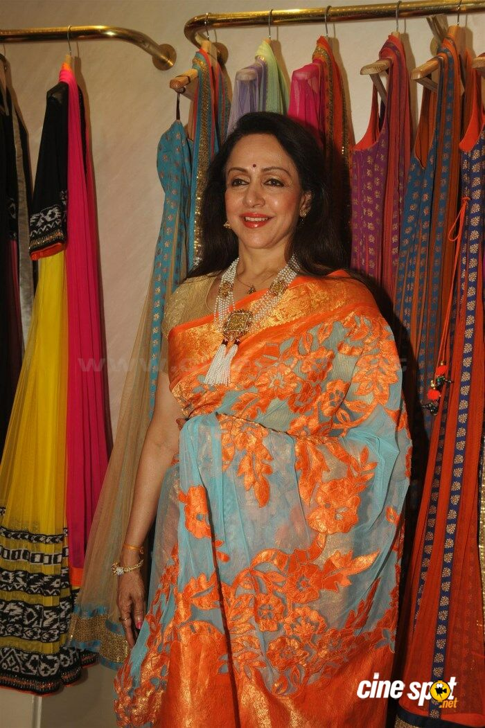 Hema Malini New Saree Stills (4)