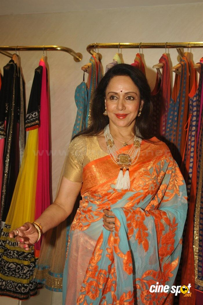Hema Malini New Saree Stills (8)