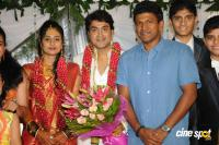 Harish Raj with Shruthi Lokesh Wedding Reception Photos
