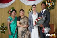 Reporter Anupama Subramanian Son Wedding Reception Photos