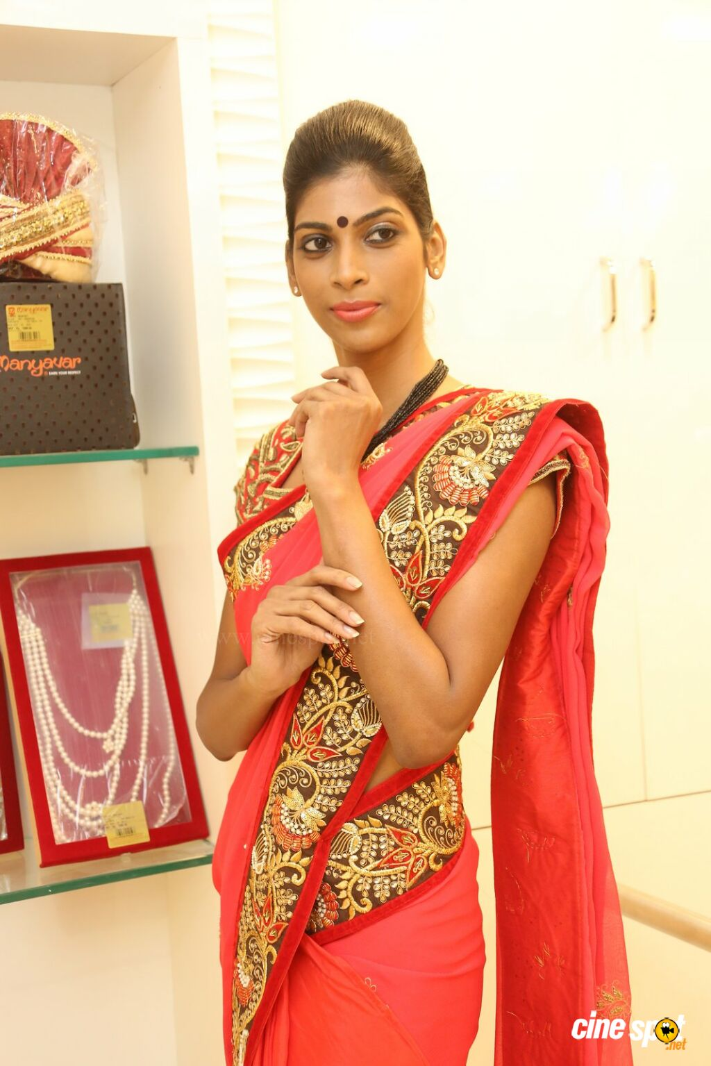 Sravanthi at Sri Krishna Silks Launch (14)