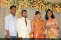 director listin stephen and wife at muktha wedding reception