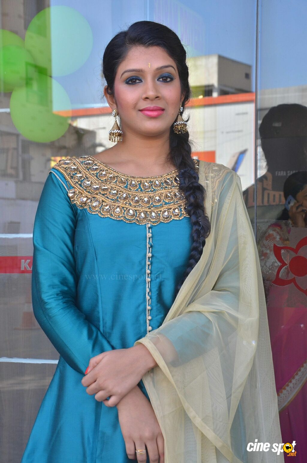 Shaini at Veeraiyan Audio Launch (2)