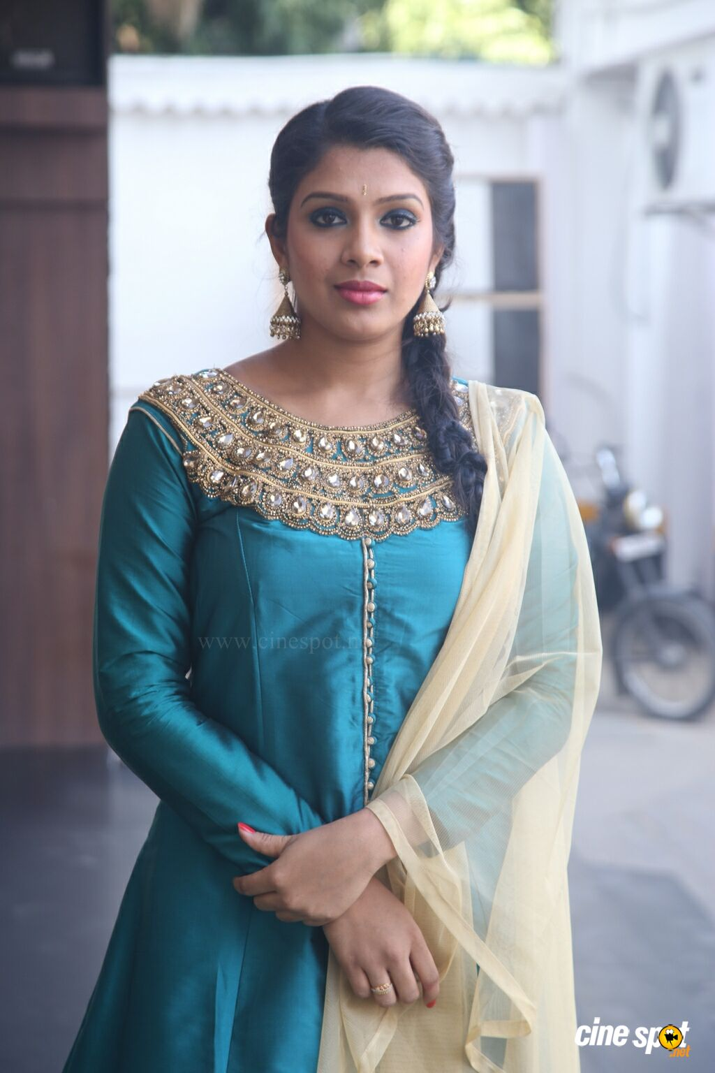 Shaini at Veeraiyan Audio Launch (8)
