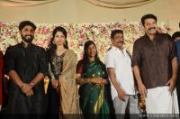 Dhyan Sreenivasan Wedding reception photos