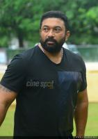 Baburaj at Thrissivaperoor Kliptham Promo Meet (2)