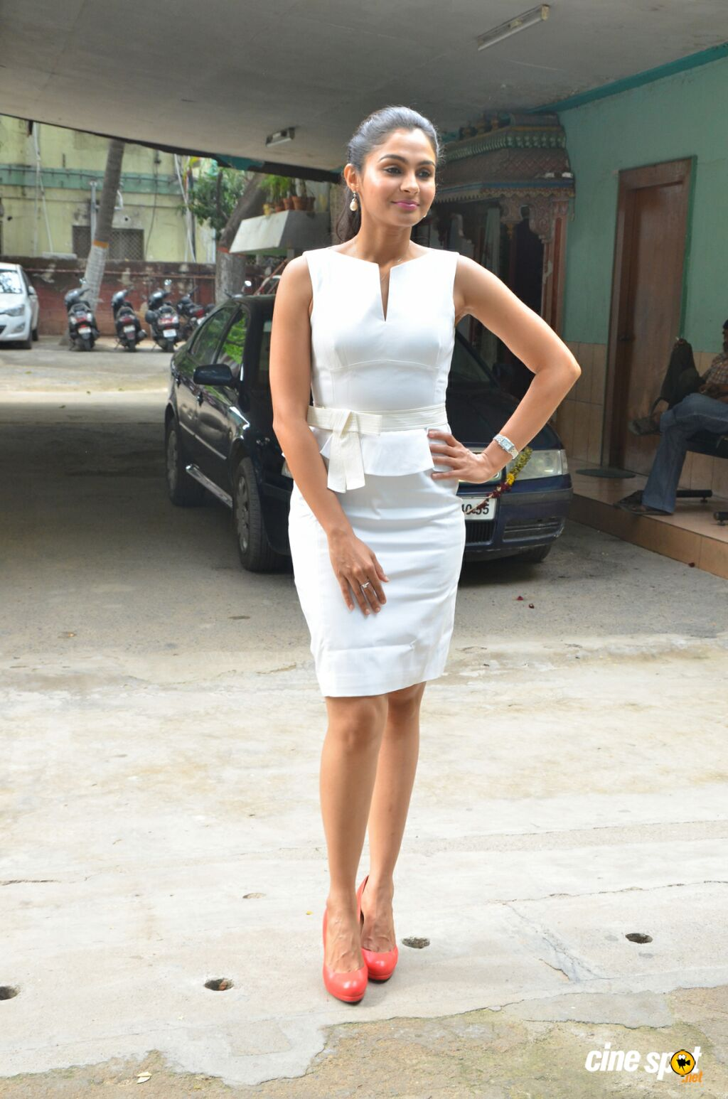 Andrea Jeremiah at Taramani Success Meet (1)