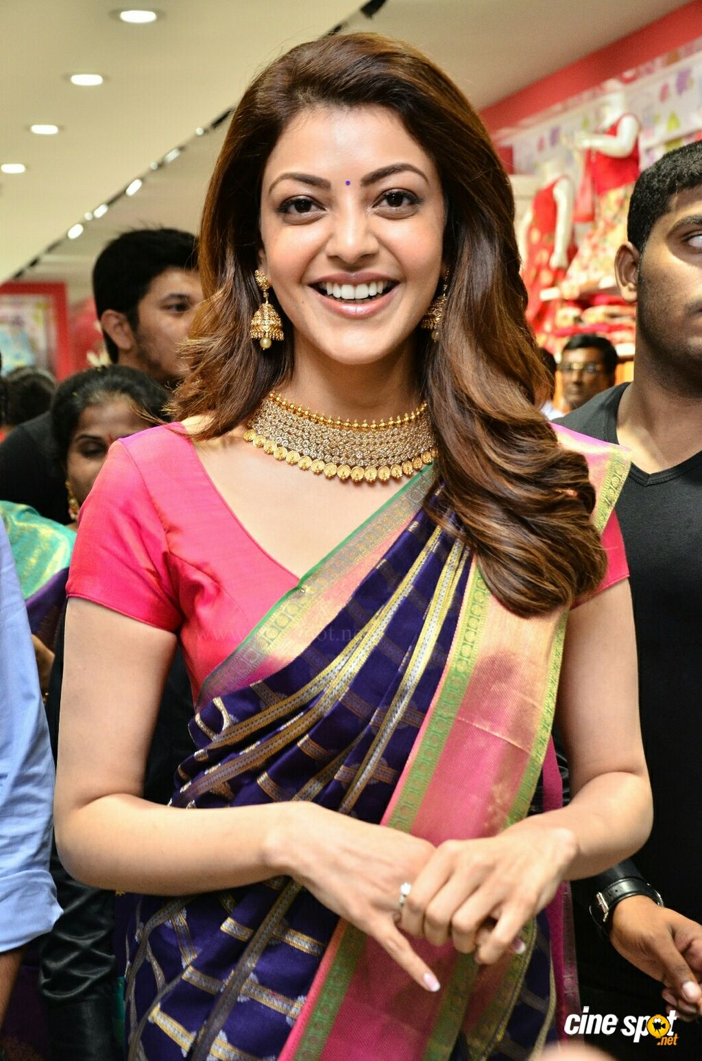 Kajal Aggarwal at Chennai Shopping Mall Opening (1)