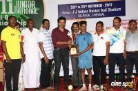 Karthi Felicitated 11th Junior National Roll Ball Championship Winners Photos