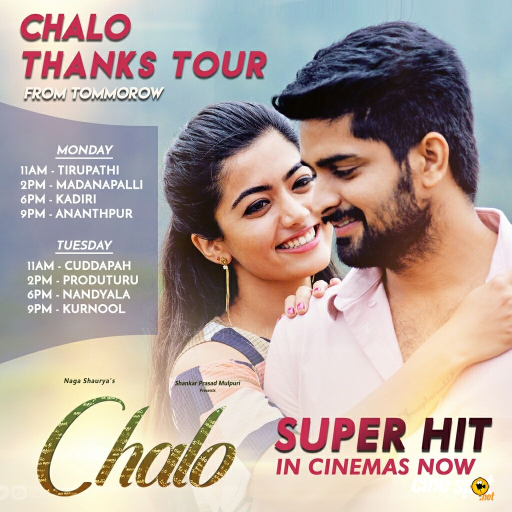 Chalo Thanks Tour New Schedule Poster