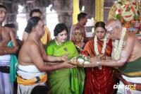 Latha Rajinikanth At Kanchipuram Temple Photos