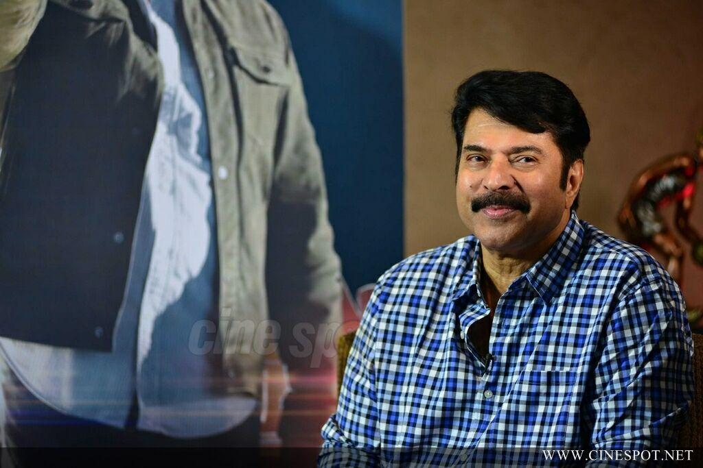 Mammootty at Abrahaminte Santhathikal Promo Meet (4)