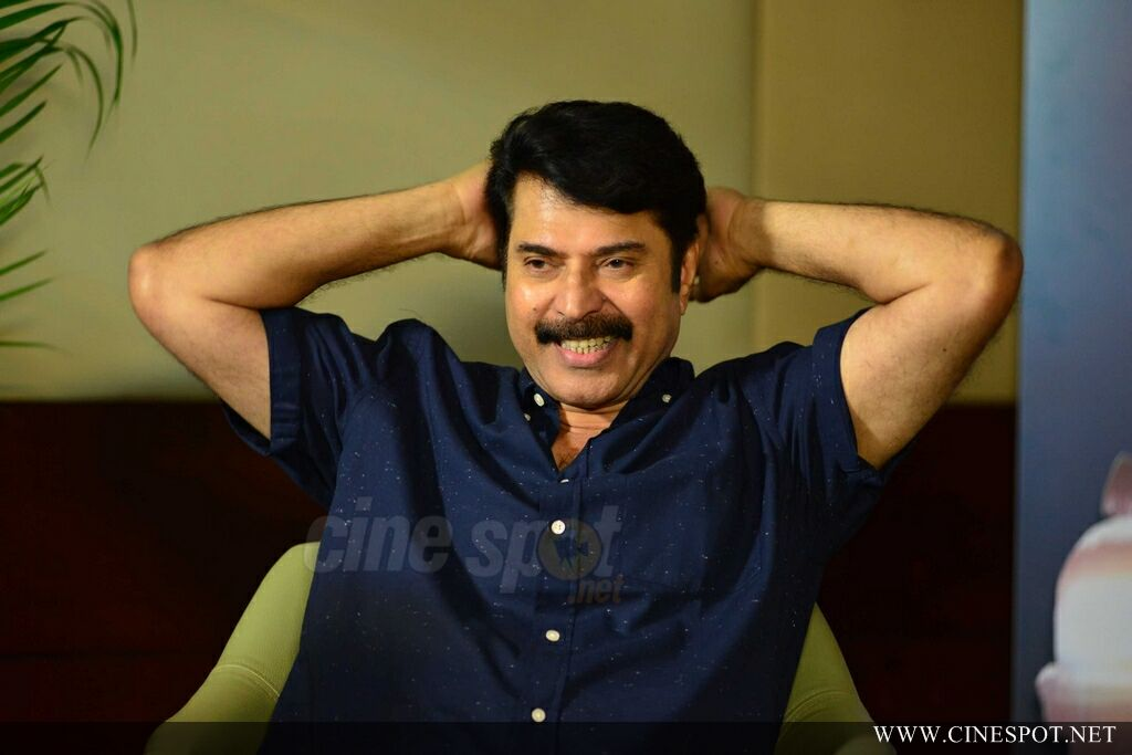 Mammootty at Abrahaminte Santhathikal Promo Meet (13)