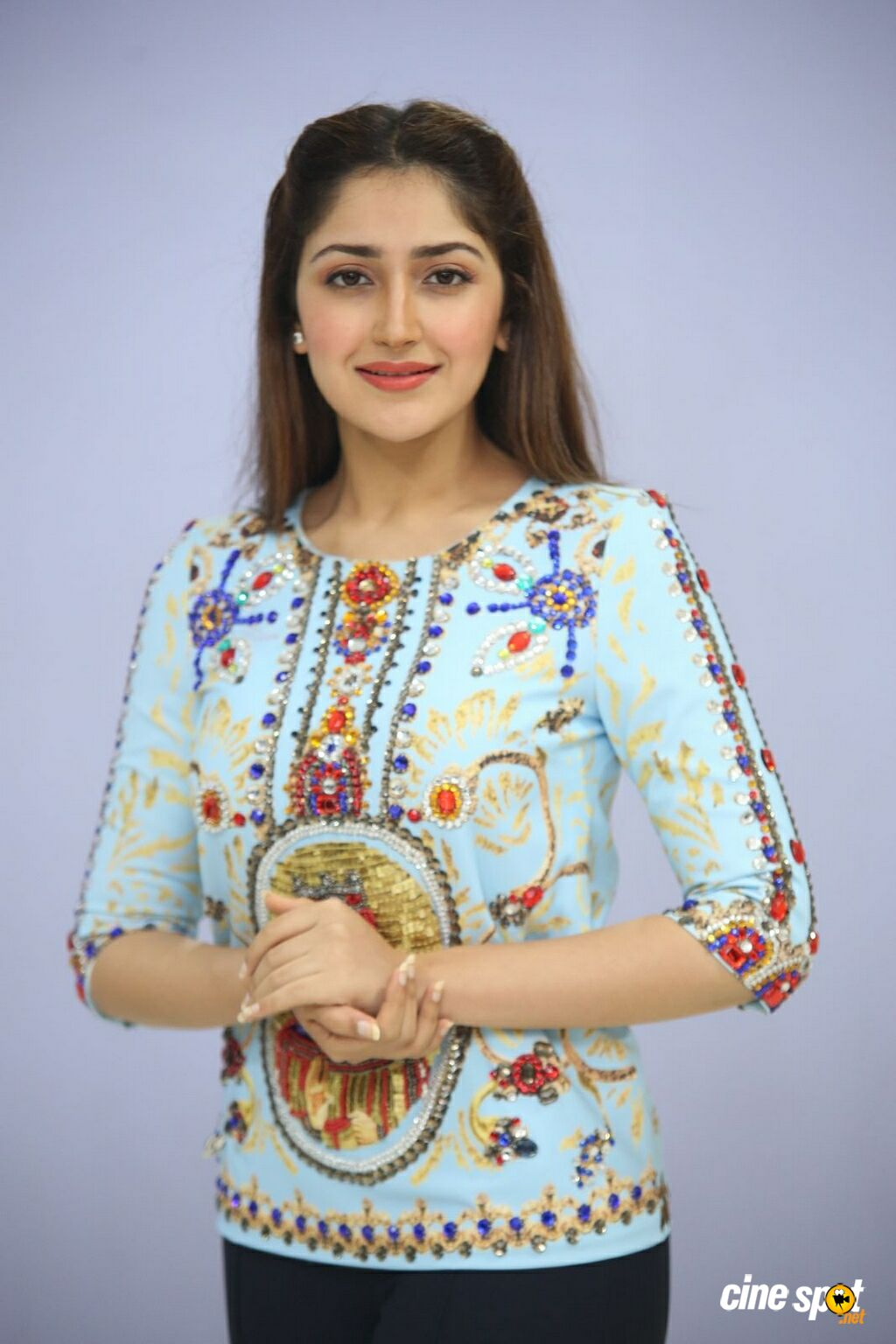 Sayesha Saigal at Chinna Babu Success Meet (18)