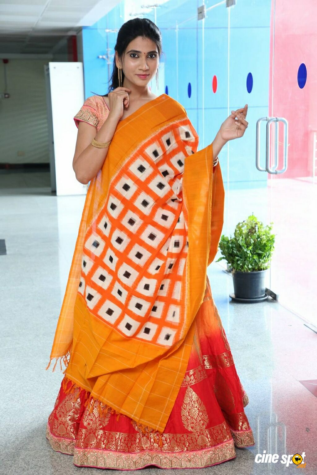 Sandhya Thota at Pochampally IKAT Mela Launch (12)