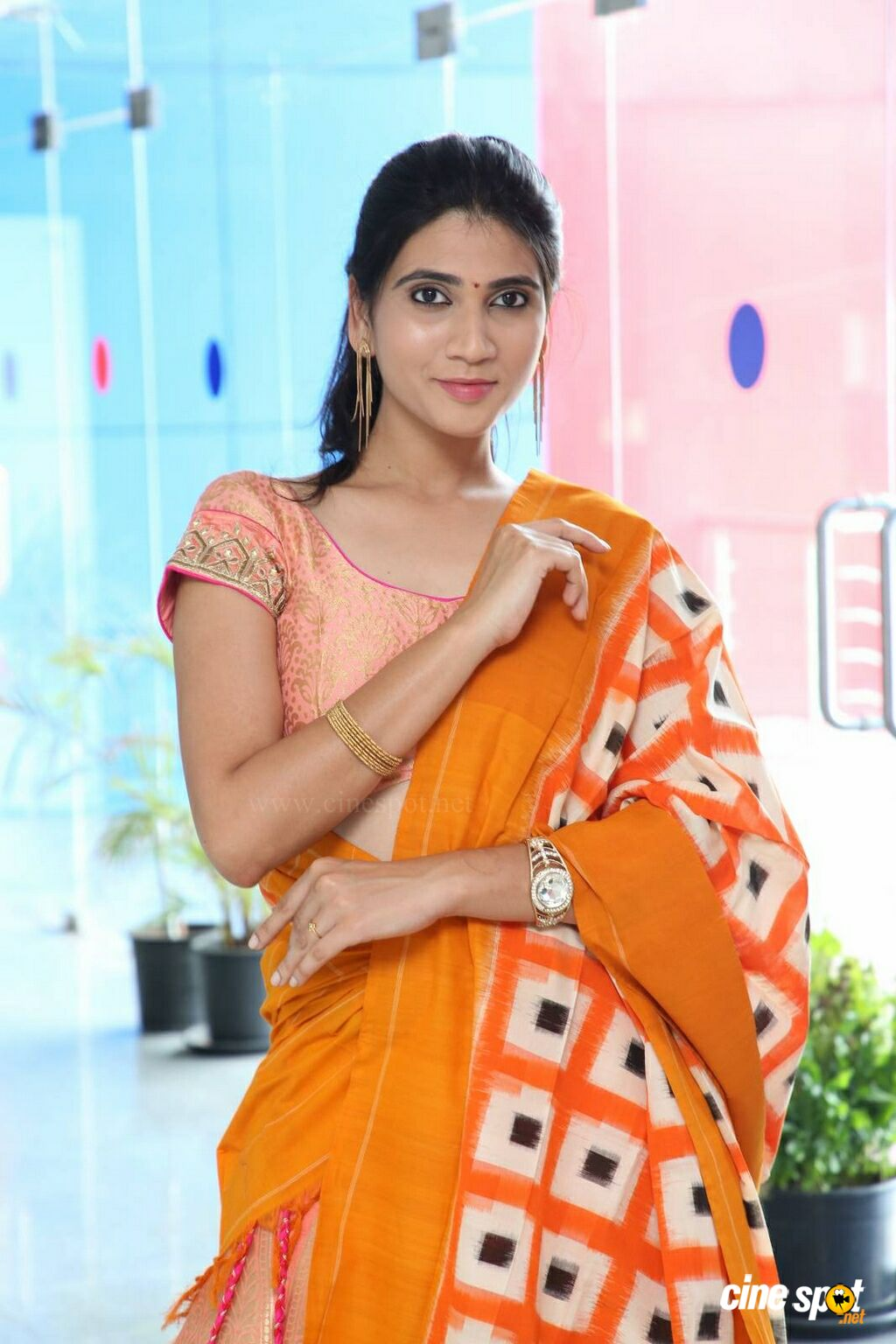 Sandhya Thota at Pochampally IKAT Mela Launch (8)