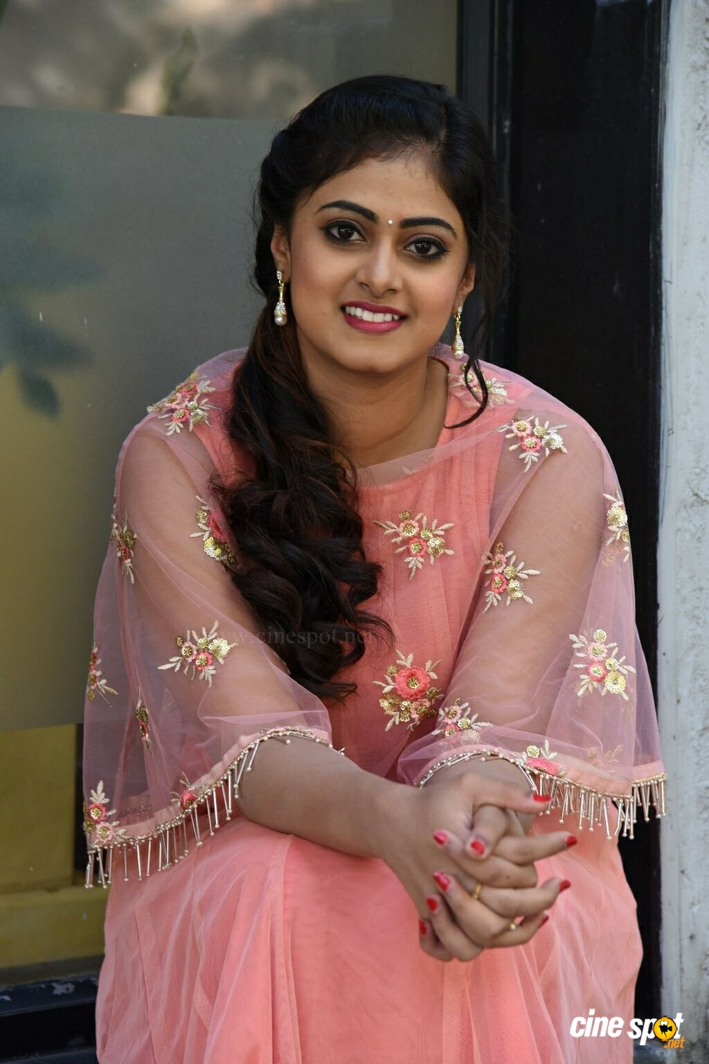Megha Sri at Amrutha Varshini Movie Opening (29)