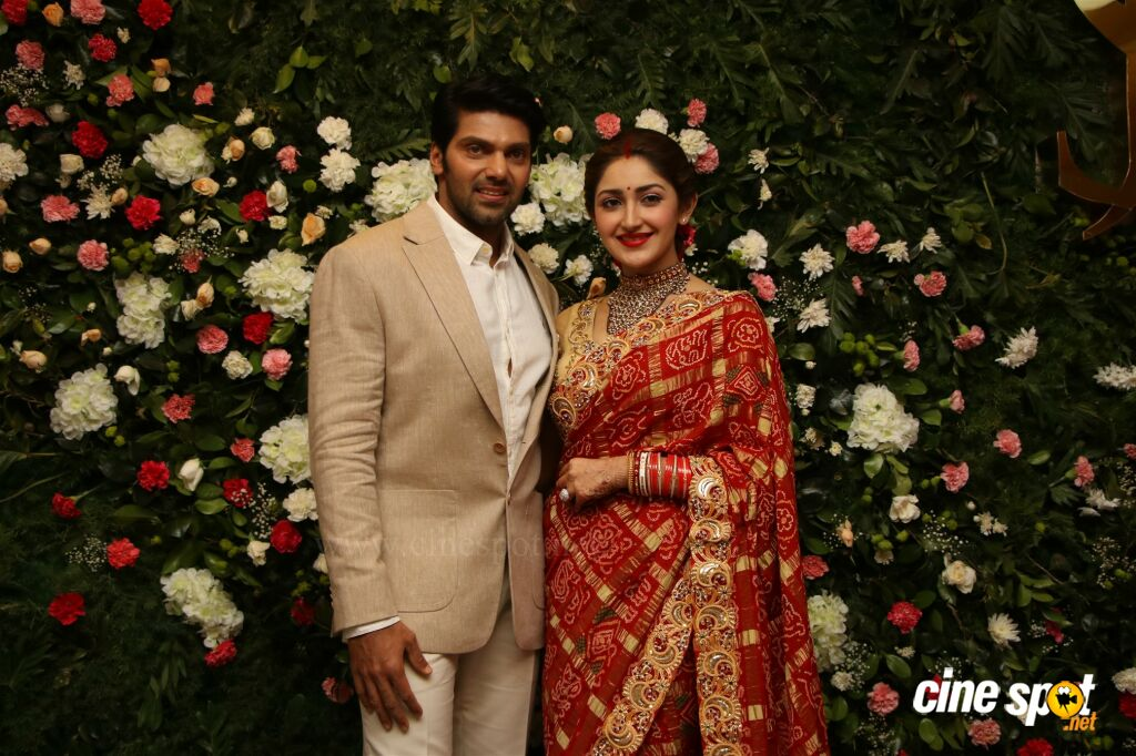 Arya - Sayyeshaa Wedding Reception (5)