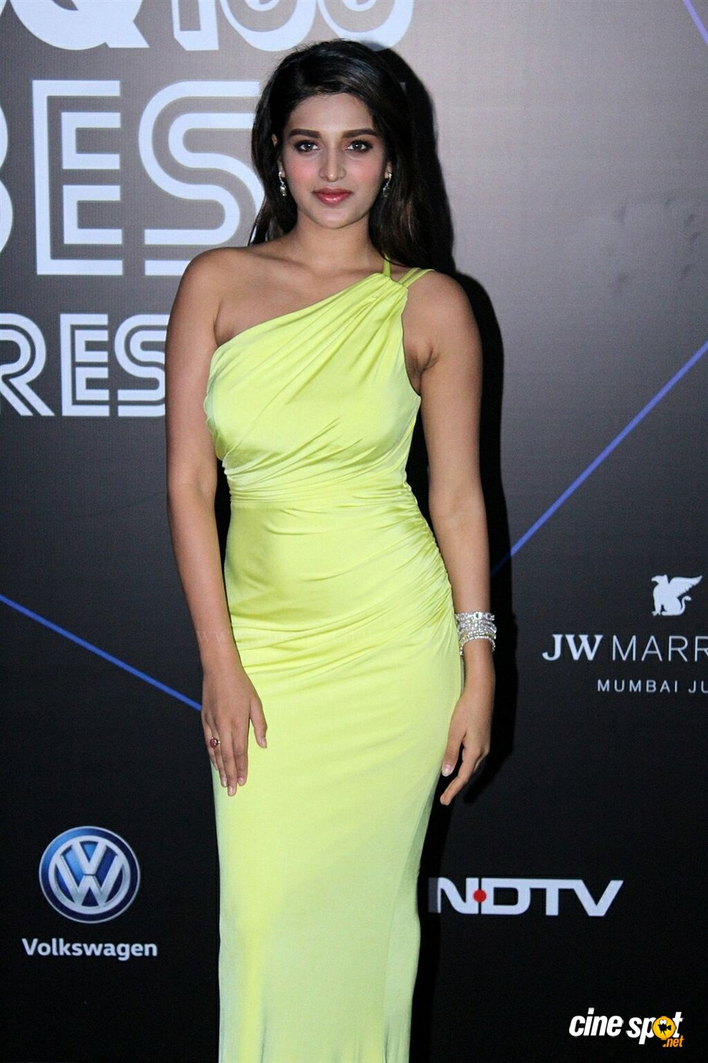 Nidhhi Agerwal at GQ Best Dressed Awards 2019 Red Carpet (5)