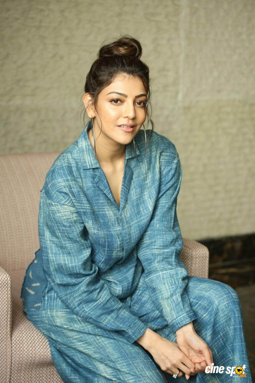 Ranarangam Heroine Kajal Aggarwal Interview Photos (46)