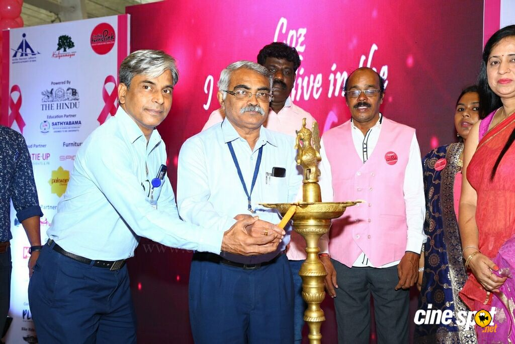 Namma Chennai Airport Turns Pink - PINKTOBER 2019 - Breast Cancer Free India - Event (26)