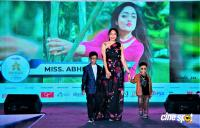 Abirami on the ramp with the children