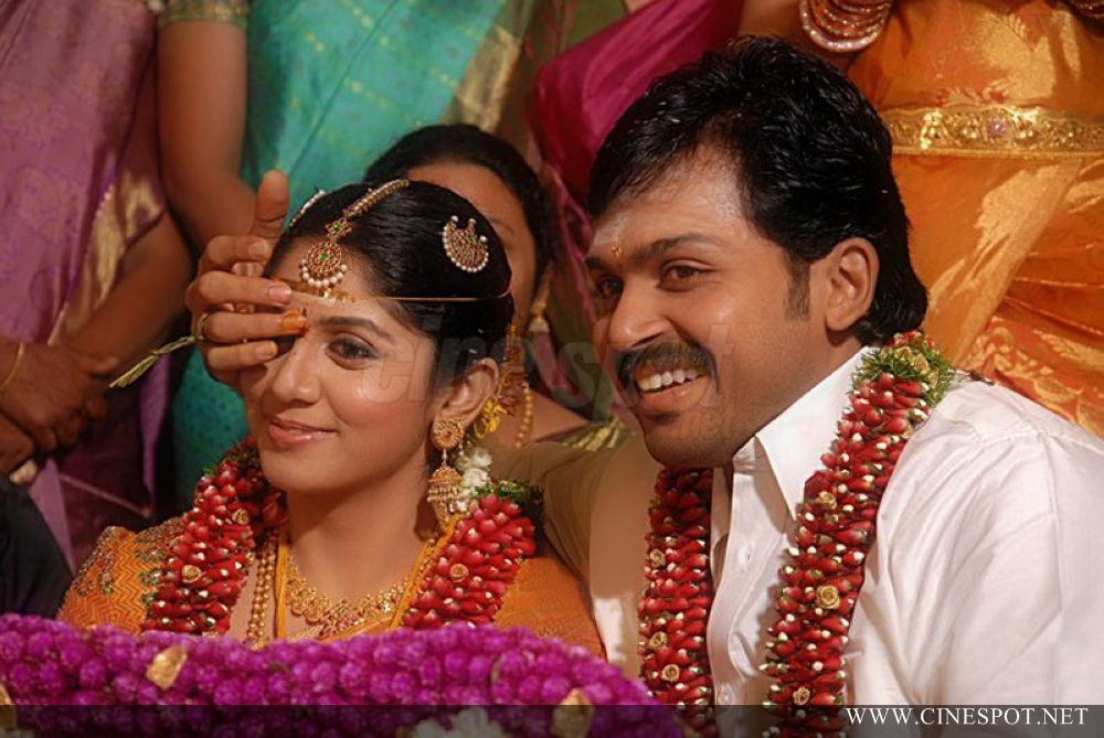 Tamil hero karthi wedding