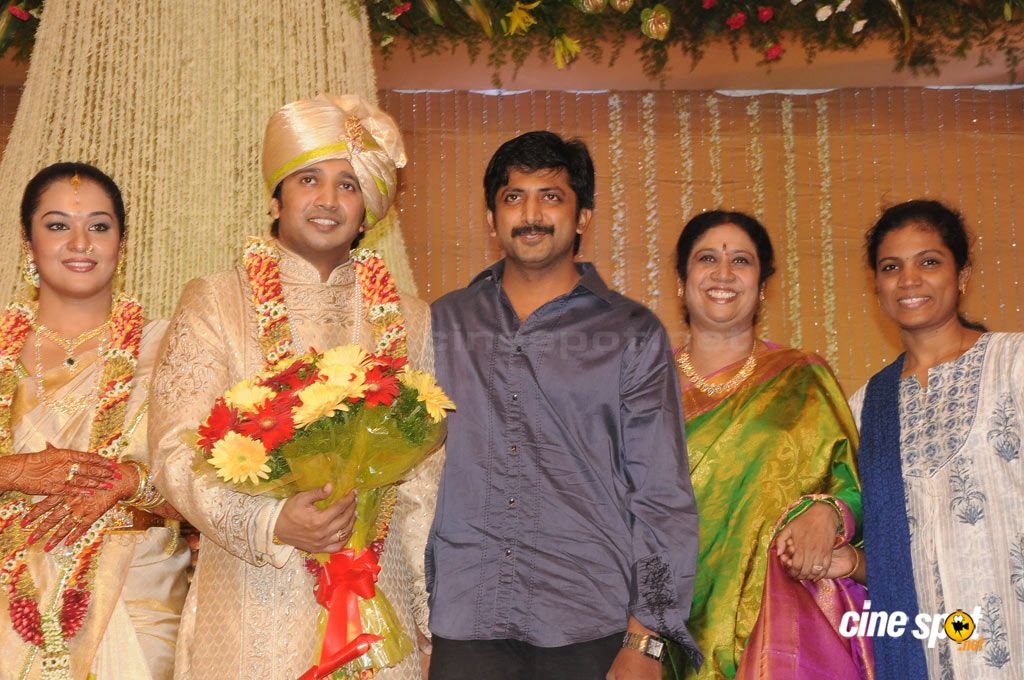 Actor Dushyanth Wedding Reception Stills Photos Gallery