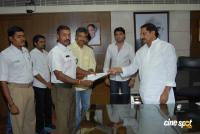 S.S Rajmouli and vaada Team Meets CM Photos