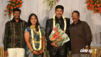 dharma kannada actor marriage reception photos (10)