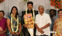 dharma kannada actor marriage reception photos (13)