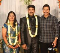dharma kannada actor marriage reception photos (4)