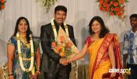 dharma kannada actor marriage reception photos (6)