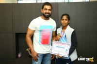 Arun Vijay Meets 20 Award Winning Boxers Photos